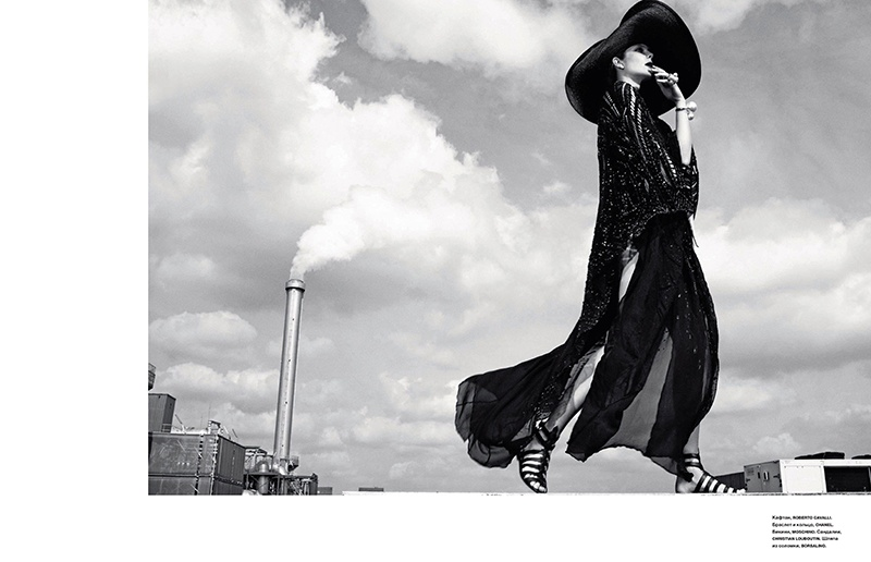 eniko mihalik black white10 Eniko Mihalik is a Timeless Beauty for Numero Russia Shoot by Van Mossevelde + N