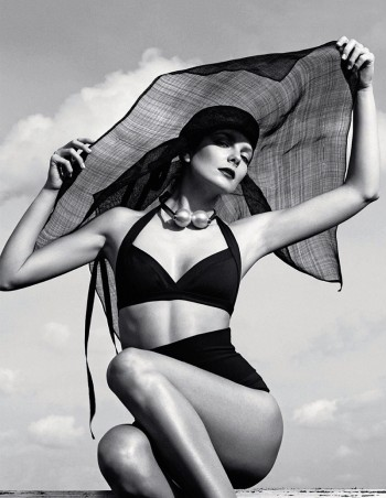Eniko Mihalik is a Timeless Beauty for Numero Russia Shoot by Van Mossevelde + N