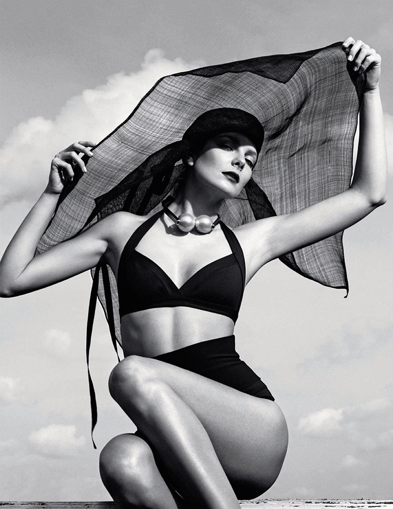 eniko mihalik black white4 Eniko Mihalik is a Timeless Beauty for Numero Russia Shoot by Van Mossevelde + N