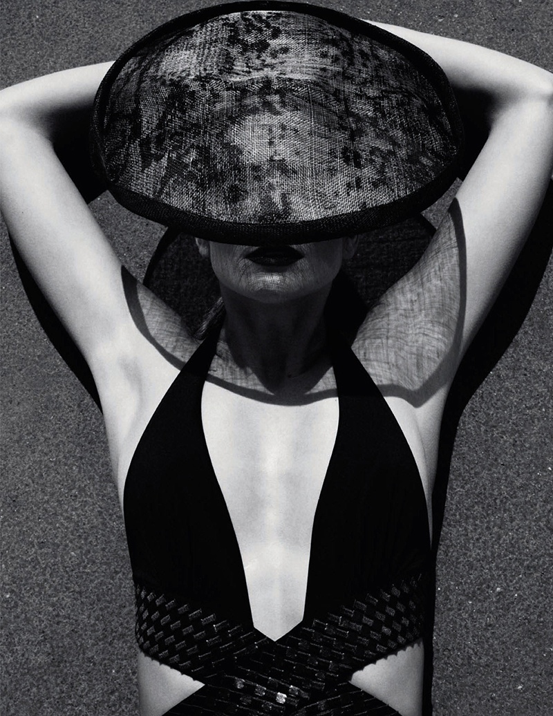 eniko mihalik black white5 Eniko Mihalik is a Timeless Beauty for Numero Russia Shoot by Van Mossevelde + N
