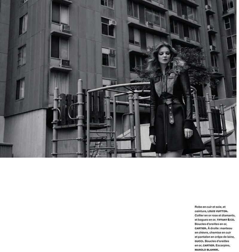 eniko mihalik yelena yemchuk6 Sur les Quais: Eniko Mihalik Enchants for Yelena Yemchuk in Numéro Feature