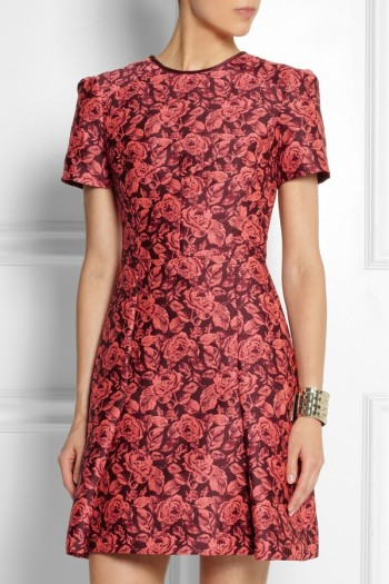 Erdem Aubrey floral-jacquard mini dress available at Net-a-Porter for $1850.00