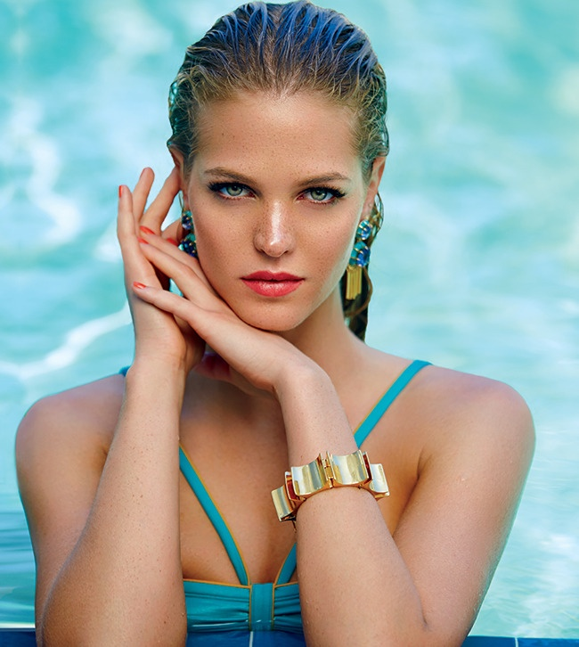 erin heatherton swimsuits 2014 5 Erin Heatherton Hits the Beach for Swimsuit Shoot in Ocean Drive