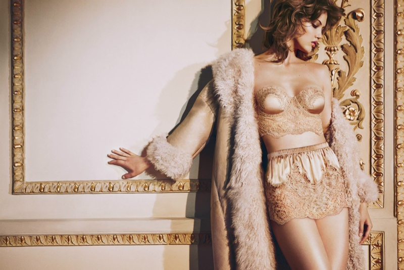 ermanno scervino 2014 fall campaign1 Lindsey Wixson Shows Off Her Seductive Side for Ermanno Scervino Fall 14 Ads