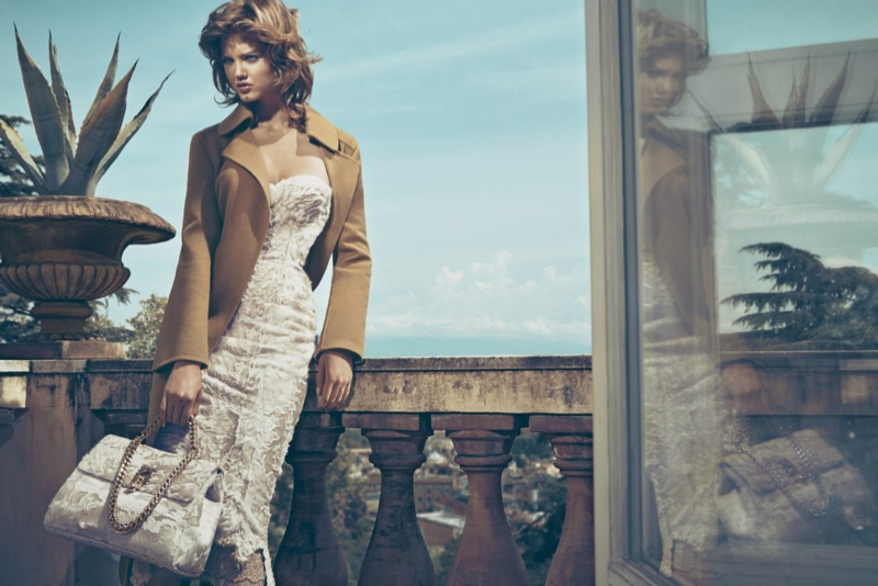 ermanno scervino 2014 fall campaign3 Lindsey Wixson Shows Off Her Seductive Side for Ermanno Scervino Fall 14 Ads