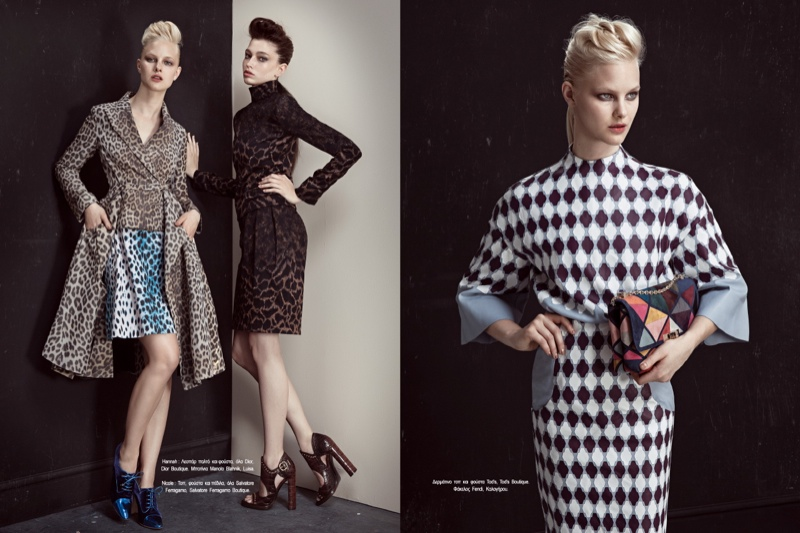 fashion story iakovos4 New Fashion Story: Hannah & Nichole by Iakovos Kalaitzakis for LOfficiel Hellas