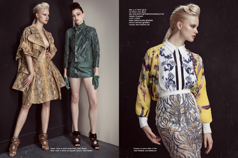 fashion story iakovos6 New Fashion Story: Hannah & Nichole by Iakovos Kalaitzakis for LOfficiel Hellas