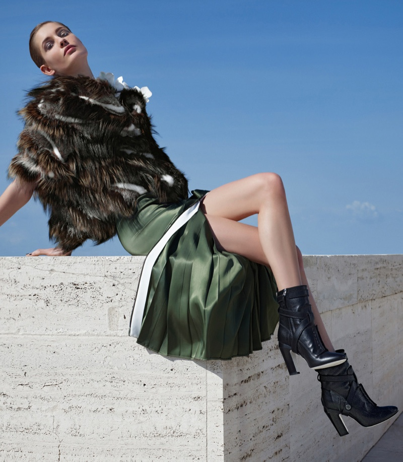 fendi 2014 fall winter campaign10 Nadja Bender, Ashleigh Good Pose in Rome for Fendis Fall 2014 Campaign
