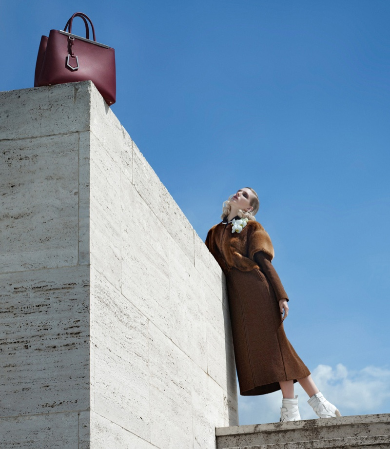fendi 2014 fall winter campaign11 Nadja Bender, Ashleigh Good Pose in Rome for Fendis Fall 2014 Campaign
