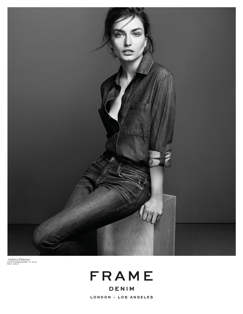 frame denim 2014 fall winter campaign1 4.39.39 PM Andreea Diaconu is Front & Center for FRAME Denims Fall 2014 Campaign