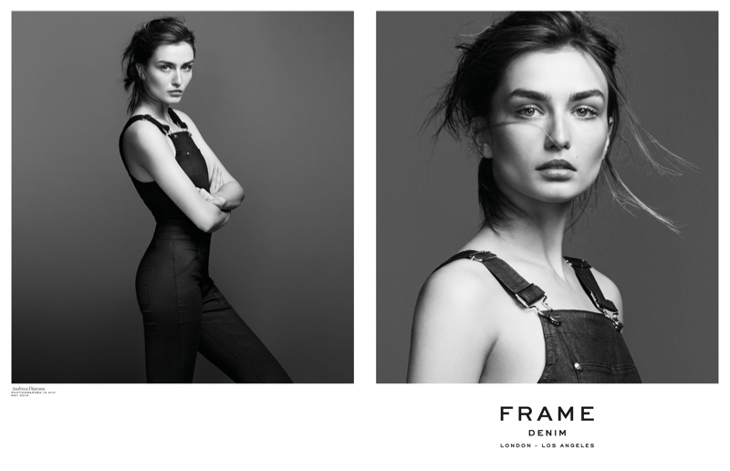 Andreea Diaconu is Front & Center for FRAME Denim's Fall 2014 Campaign