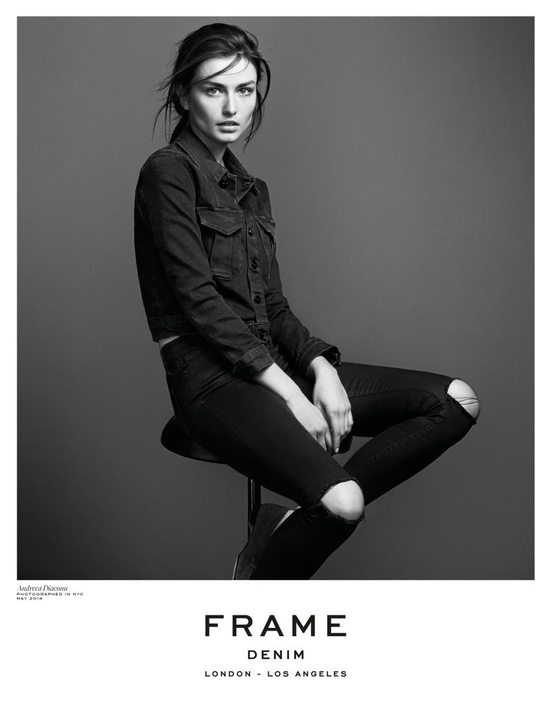 Andreea Diaconu stars in Frame Denim fall 2014 campaign