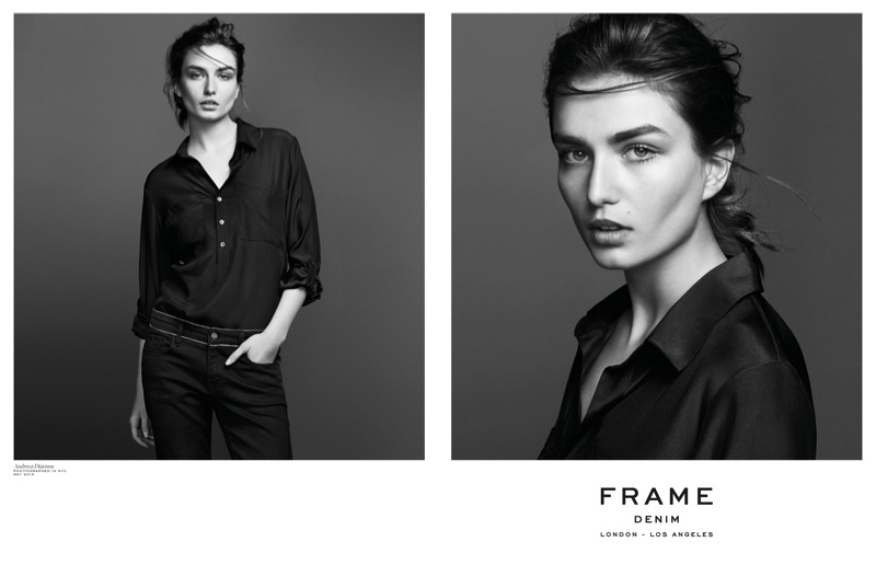frame denim 2014 fall winter campaign2 4.39.39 PM Andreea Diaconu is Front & Center for FRAME Denims Fall 2014 Campaign