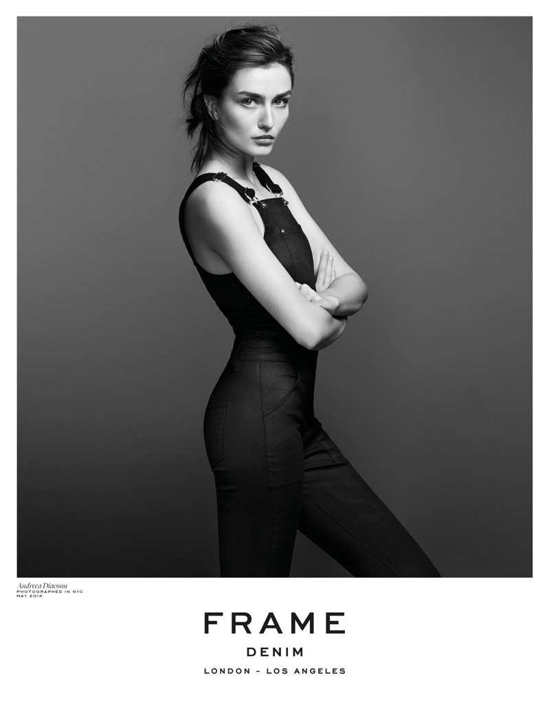 frame denim 2014 fall winter campaign3 4.39.39 PM Andreea Diaconu is Front & Center for FRAME Denims Fall 2014 Campaign