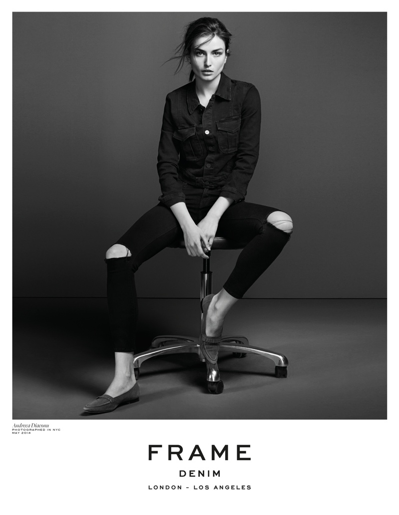 frame denim 2014 fall winter campaign4 4.39.39 PM Andreea Diaconu is Front & Center for FRAME Denims Fall 2014 Campaign