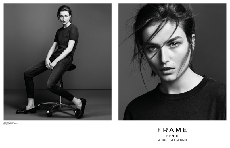 frame denim 2014 fall winter campaign5 4.39.39 PM Andreea Diaconu is Front & Center for FRAME Denims Fall 2014 Campaign