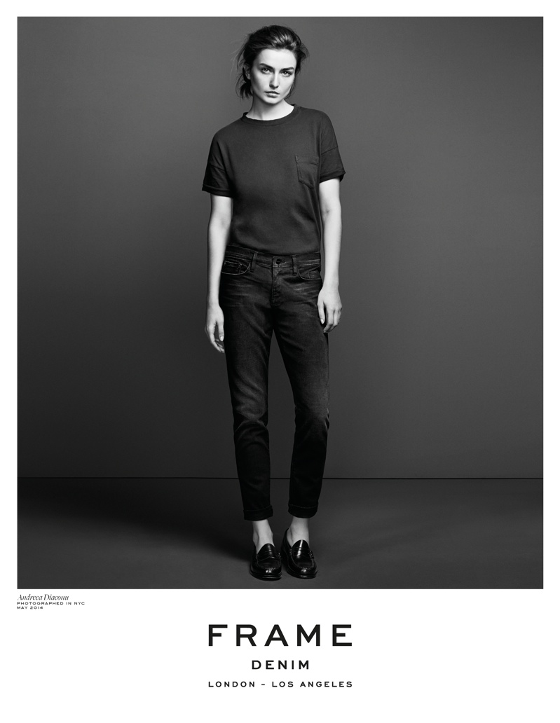 frame denim 2014 fall winter campaign6 4.39.39 PM Andreea Diaconu is Front & Center for FRAME Denims Fall 2014 Campaign