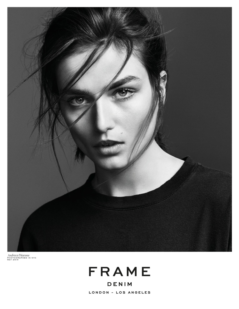 frame denim 2014 fall winter campaign7 4.39.39 PM Andreea Diaconu is Front & Center for FRAME Denims Fall 2014 Campaign