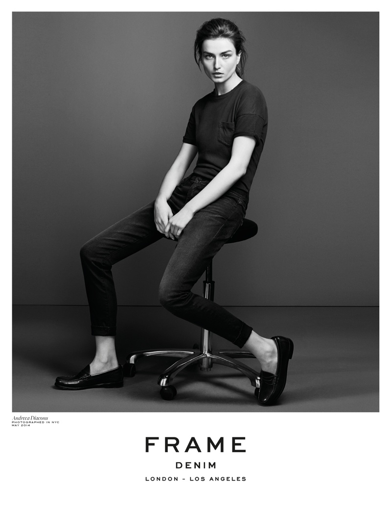 frame denim 2014 fall winter campaign8 4.39.39 PM Andreea Diaconu is Front & Center for FRAME Denims Fall 2014 Campaign