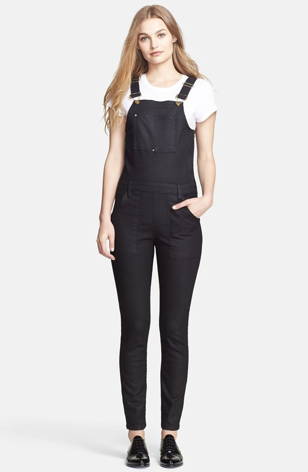 frame denim le skinny overalls Overalls Are Back! How to Wear The Trend for Now