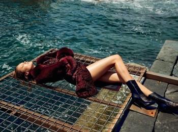 Karmen Pedaru is a Vision in Francesco Scognamiglio's Fall 2014 Ads