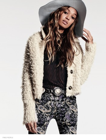 Joan Smalls is Bohemian Chic for Free People's August Issue