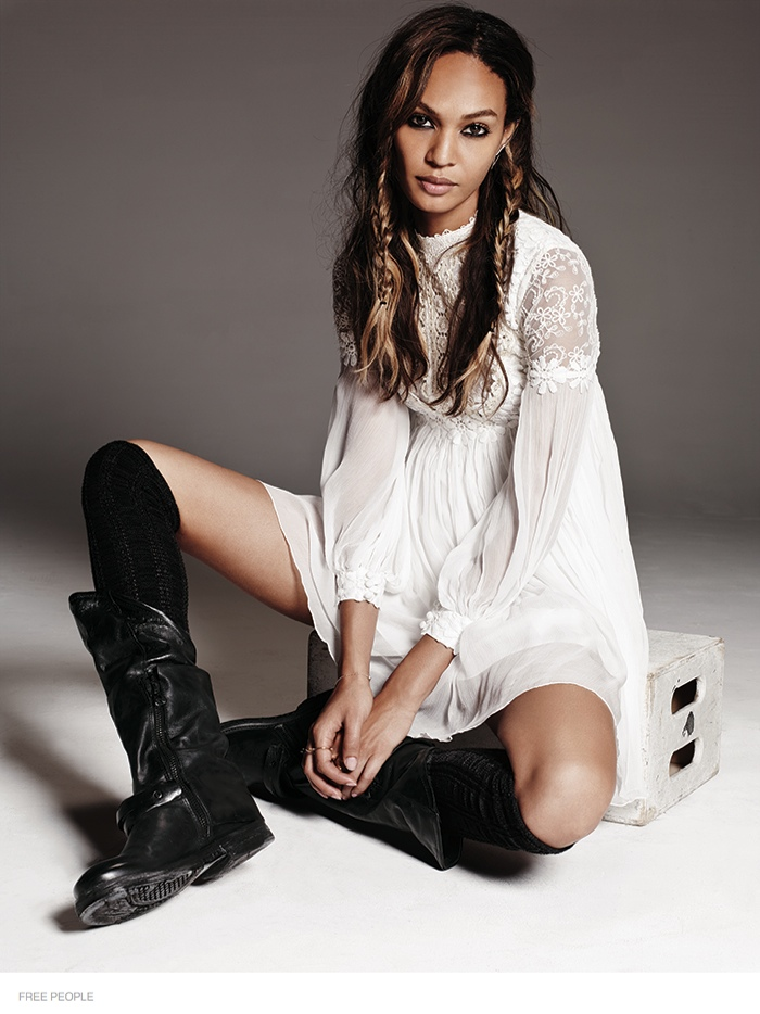 free people bohemian joan smalls shoot04 Joan Smalls is Bohemian Chic for Free Peoples August Issue
