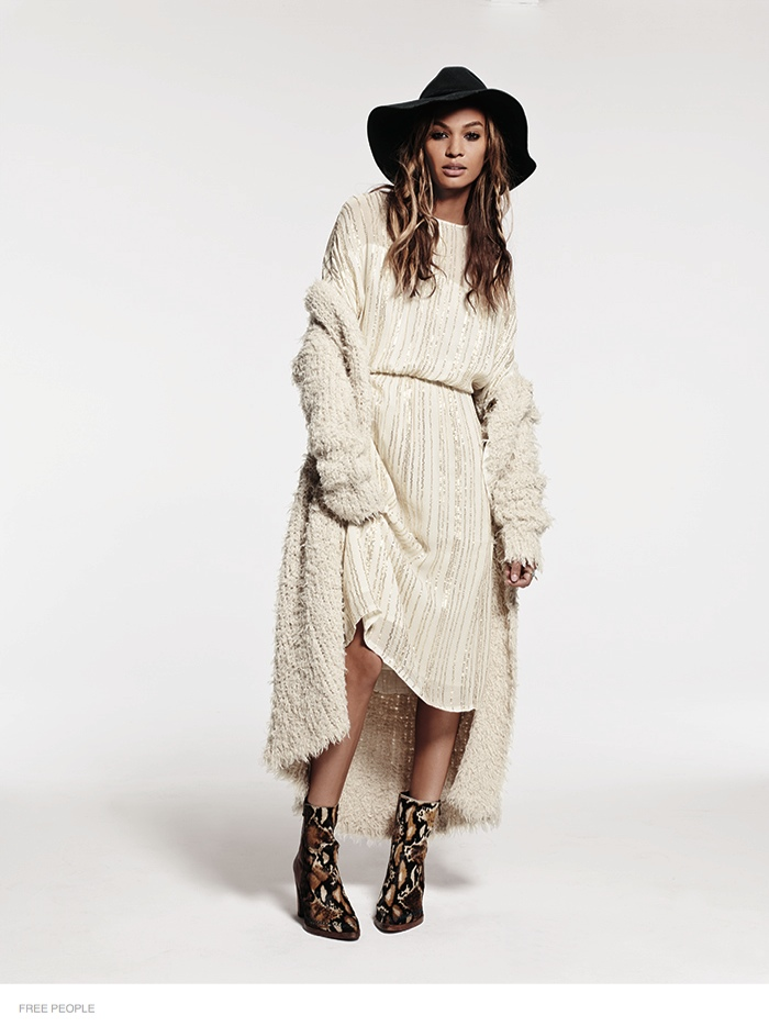 free people bohemian joan smalls shoot05 Joan Smalls is Bohemian Chic for Free Peoples August Issue