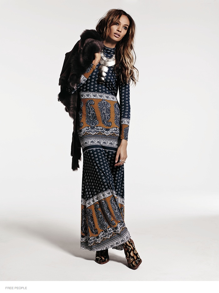 free people bohemian joan smalls shoot07 Joan Smalls is Bohemian Chic for Free Peoples August Issue