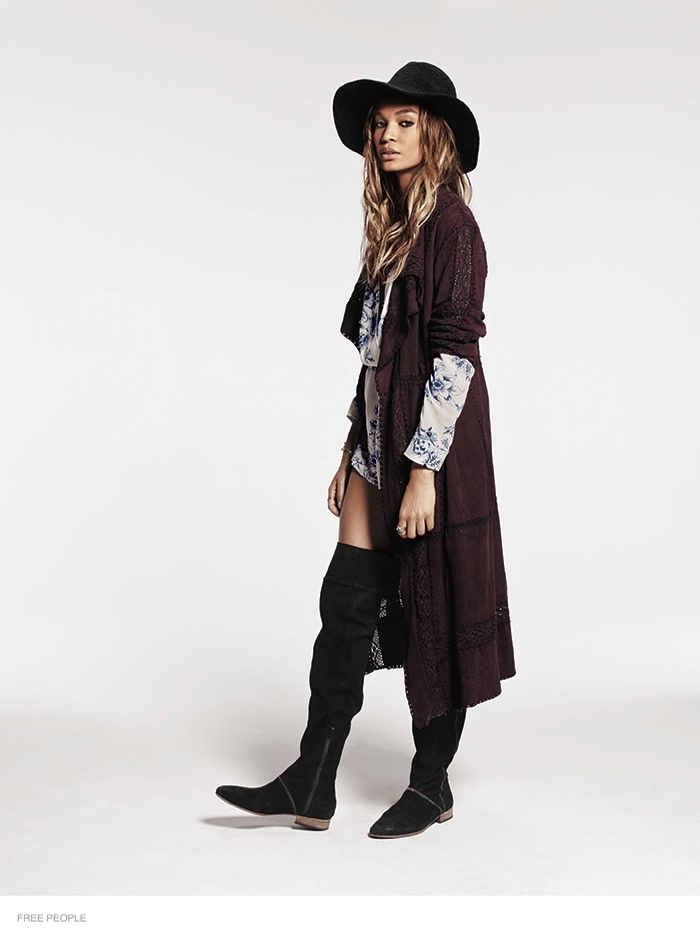 free people bohemian joan smalls shoot09 Joan Smalls is Bohemian Chic for Free Peoples August Issue