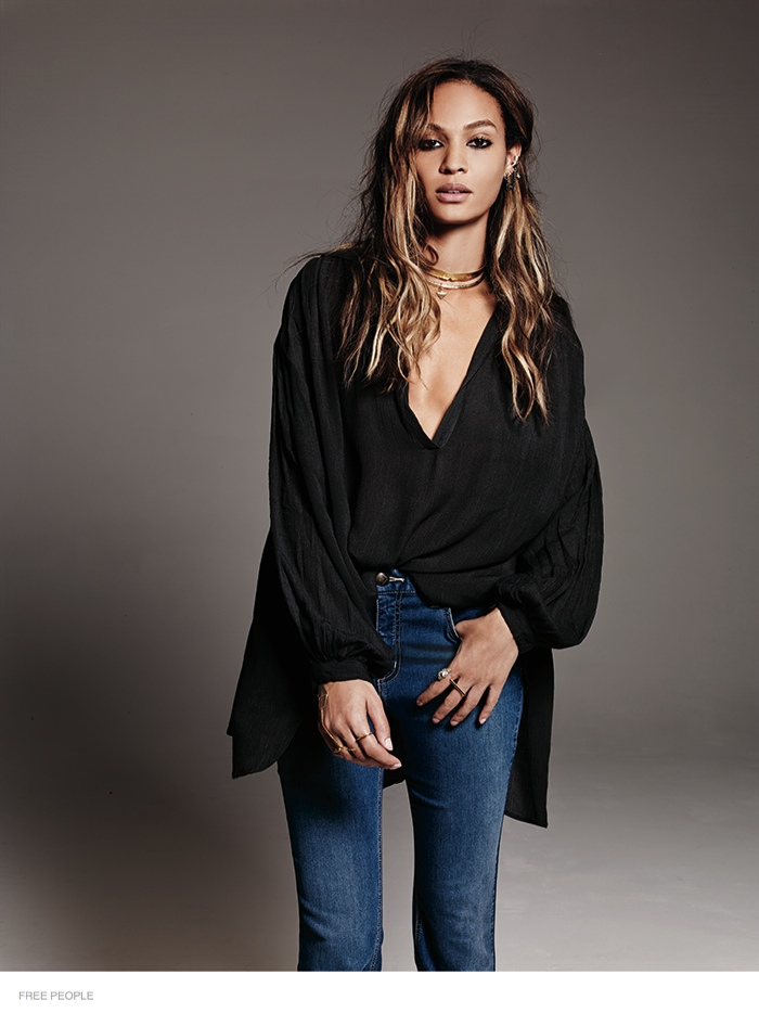 free people bohemian joan smalls shoot13 Joan Smalls is Bohemian Chic for Free Peoples August Issue