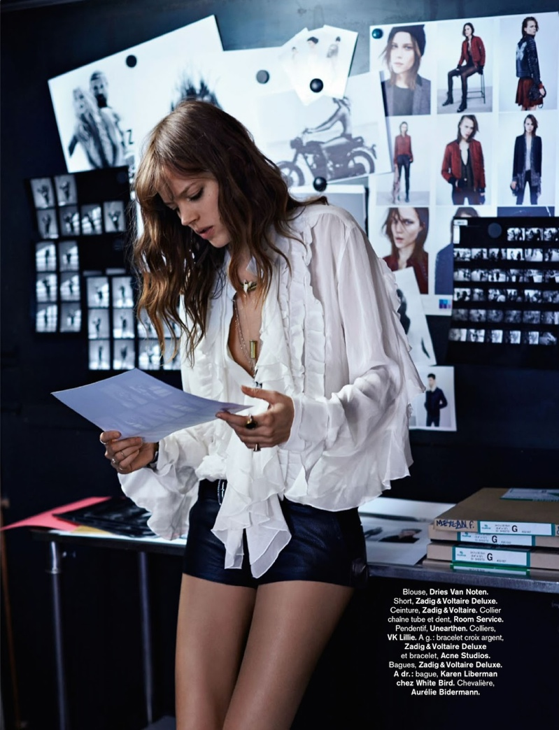 freja beha erichsen model5 Freja Beha Erichsen Plays a Photographer for Glamour France Shoot by Fred Meylan