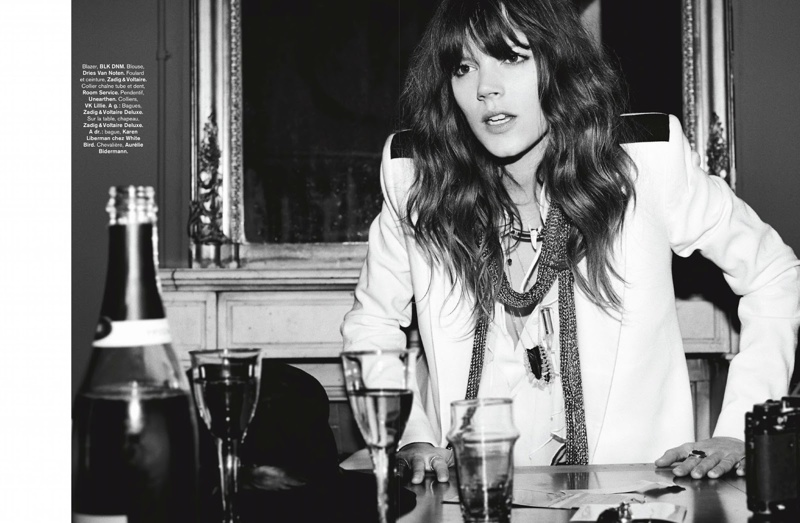 freja beha erichsen model6 Freja Beha Erichsen Plays a Photographer for Glamour France Shoot by Fred Meylan