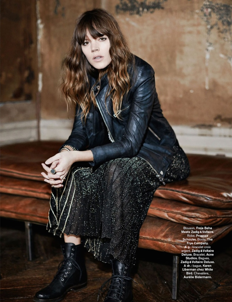 freja beha erichsen model7 Freja Beha Erichsen Plays a Photographer for Glamour France Shoot by Fred Meylan