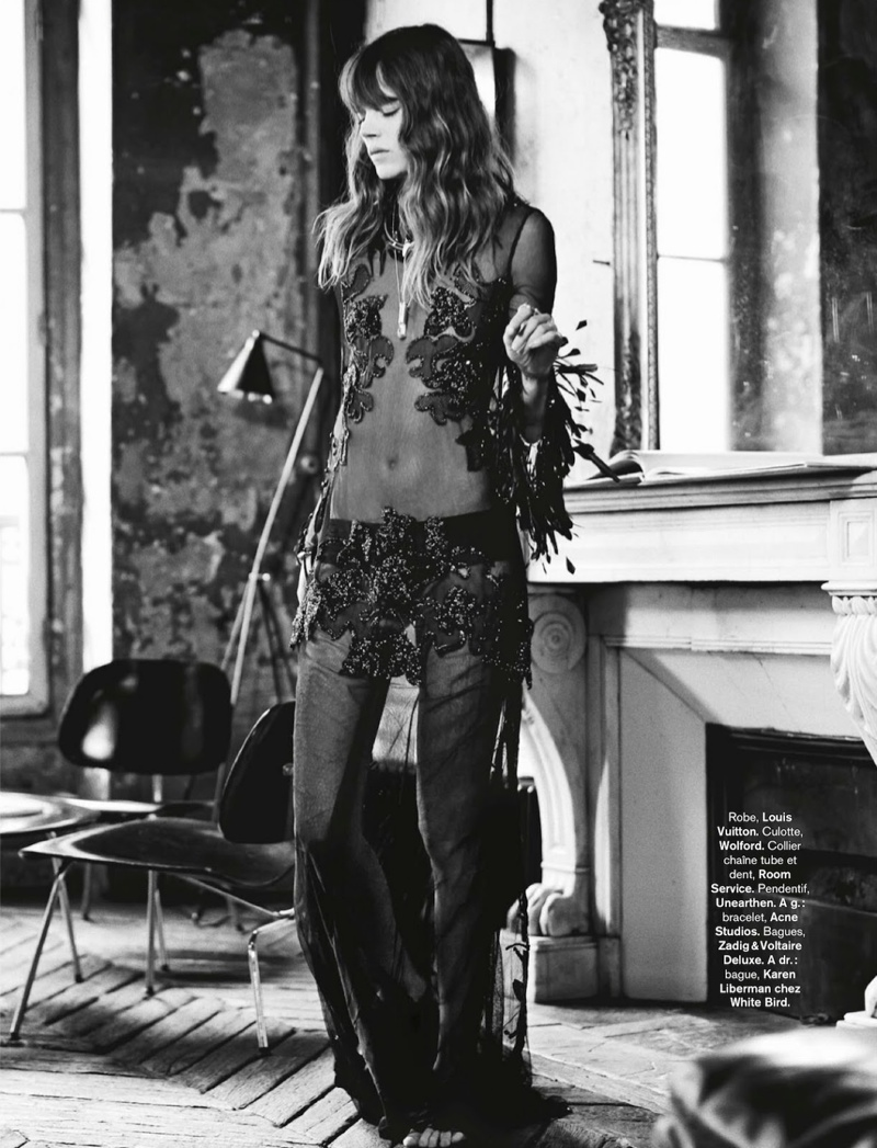 freja beha erichsen model8 Freja Beha Erichsen Plays a Photographer for Glamour France Shoot by Fred Meylan