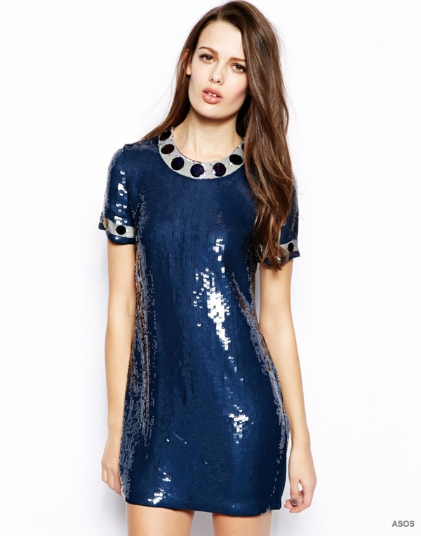 French Connection Cinderland Sequin Shift Dress available at ASOS for $209.59
