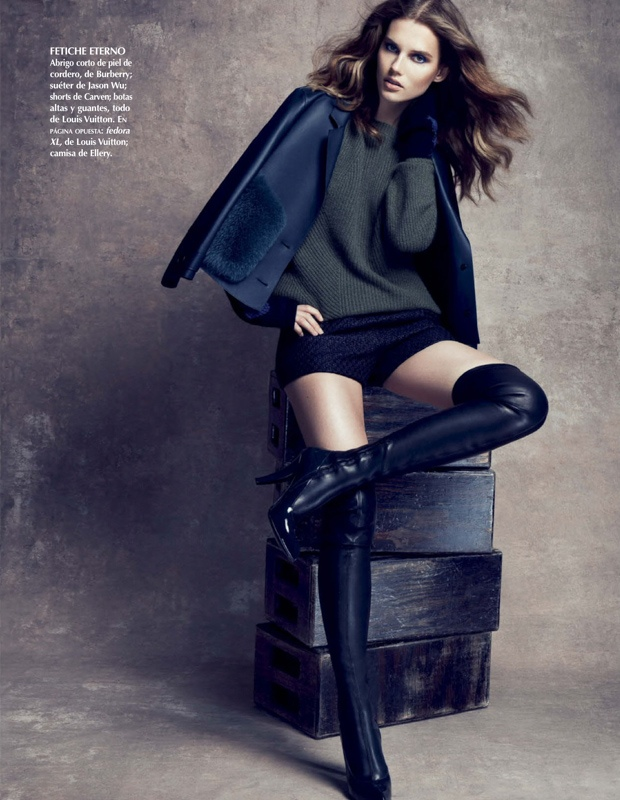 Giedre Dukauskaite Models Pre-Fall Style for Vogue Mexico by Stockton Johnson
