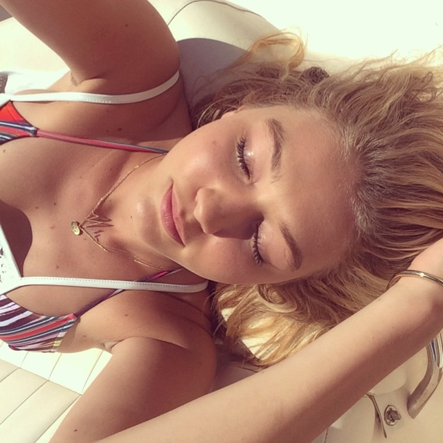 Gigi Hadid lives the beach life