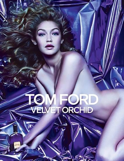 Gigi Hadid Gets (Almost) Naked for Tom Ford Velvet Orchid Fragrance Ad
