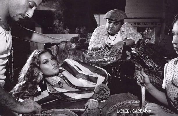 Gisele Bundchen for Dolce & Gabbana Spring 2000 Campaign by Steven Meisel