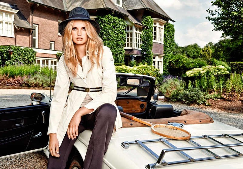goldbergh spring summer 2015 campaign10 Romee Strijd Hits the Field for Goldberghs Spring 2015 Campaign