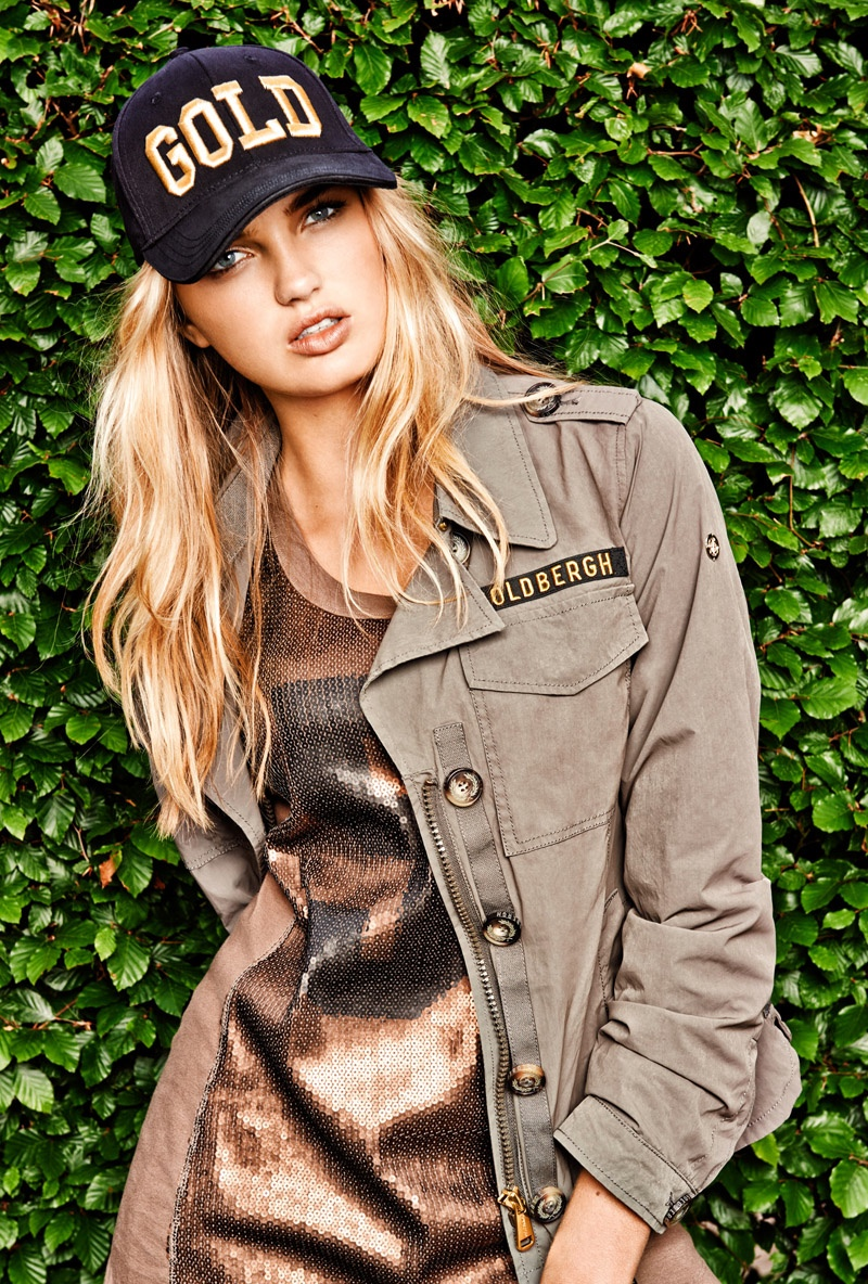 goldbergh spring summer 2015 campaign8 Romee Strijd Hits the Field for Goldberghs Spring 2015 Campaign