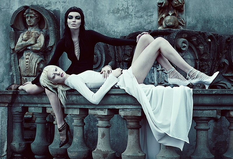good evil fashion chris nicholls4 Garden of Good & Evil: Meagan + Gaby by Chris Nicholls for FASHION Magazine