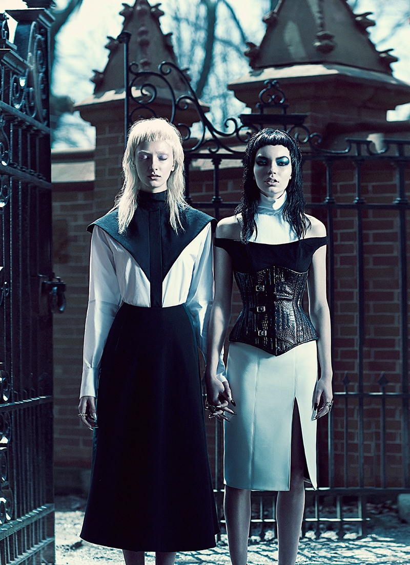 good evil fashion chris nicholls8 Garden of Good & Evil: Meagan + Gaby by Chris Nicholls for FASHION Magazine