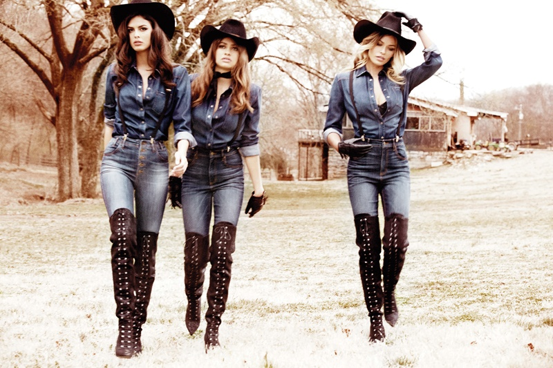 guess 2014 fall winter campaign5 Nashville Babes! Gigi Hadid, Samantha Hoopes + More Star in Guess' Fall 2014 Ads