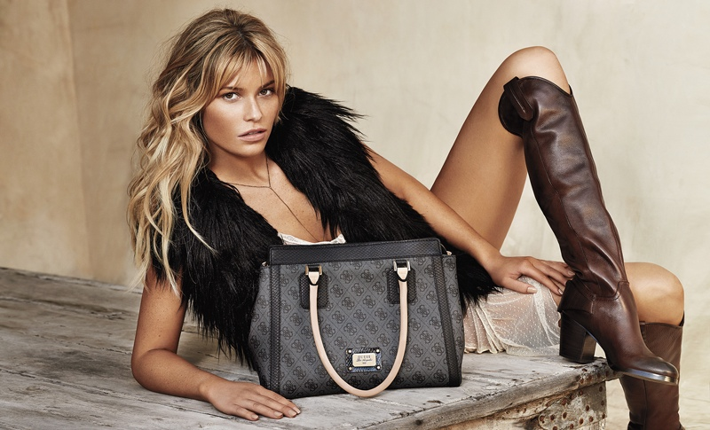 Samantha Hoopes Turns Up the Glam for Guess Accessories Fall Ads