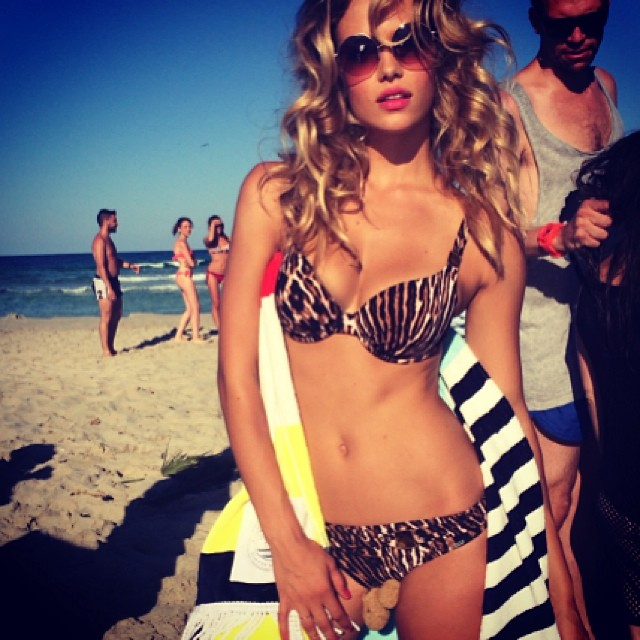 hannah beach Instagram Photos of the Week | Karolina Kurkova, Doutzen Kroes + More Models