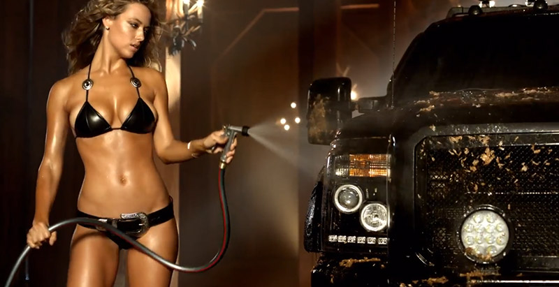 Hannah Ferguson Gets Bikini Clad in Sexy Carl's Jr. Commercial with Surprise Guest
