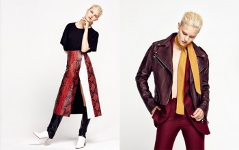 Hannah Holman Models Fall Fashion for L'Officiel Turkey by Ahmet Unver