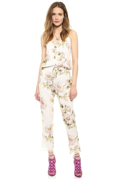 Haute Hippie Drawstring Floral Print Jumpsuit available at Shopbop for $367.50